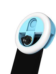 Недорогие -USB аккумуляторная новинка объектив камеры заполнить свет телефон селфи 2-в-1 широкоугольный салон красоты 3 регулировка яркости фото свет