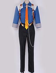 baratos -Inspirado por Fantasias Fantasias Anime Fantasias de Cosplay Ternos de Cosplay Contemporâneo Blusa / Calças / Gravata Para Homens / Mulheres