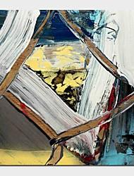 Недорогие -Hang-роспись маслом Ручная роспись - Абстракция Современный Включите внутренний каркас