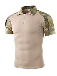 저렴한 -Esdy 남성용 짧은 소매 하이킹 T-셔츠 집 밖의 가을 봄 빠른 드라이 통기성 착용 가능한 땀 흡수 기능성 소재 면 혼방 티셔츠 그레이 카모플라쥬 카키 야외운동