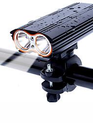 Недорогие -Светодиодная лампа Велосипедные фары Передняя фара для велосипеда Горные велосипеды Велоспорт Велоспорт Водонепроницаемый Поворот на 360° Несколько режимов Супер яркий 18650 2000 lm Перезаряжаемый USB