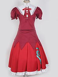 baratos -Inspirado por Projecto de Touhou Fantasias Anime Fantasias de Cosplay Ternos de Cosplay Contemporâneo Vestido / Mais Acessórios / Ocasiões Especiais Para Homens / Mulheres