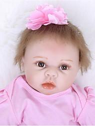 voordelige -FeelWind Reborn-poppen Meisjespop Baby meisjes 22 inch(es) Siliconen Vinyl - levensecht Met de Hand Gemaakt Schattig Kinderen / Tieners Niet-giftig voor kinderen Unisex Speeltjes Geschenk