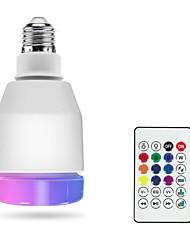 Недорогие -1 шт. Rgbw светодиодные смарт-лампы e27 светодиодные лампы дистанционного управления bluetooth 4.0 динамик музыка красочные затемнения светодиодный свет ac100-240v