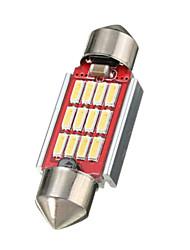 Недорогие -1 шт. 36mm Автомобиль Лампы 3.2 W SMD 4014 360 lm 12 Светодиодная лампа Внутреннее освещение Назначение Volkswagen / Toyota / Mercedes-Benz Дженерал Моторс Все года