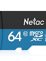 Недорогие -Netac 64 Гб карта памяти UHS-I U1 / Class10 P500