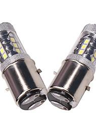 Недорогие -OTOLAMPARA 2pcs T20 (7440,7443) / 3156 / 3157 Автомобиль Лампы 80 W SMD 335 1860 lm 16 Светодиодная лампа Задний свет Назначение Hyundai / Honda Civic / RAV4 / Vezel 2018 / 2017 / 2019