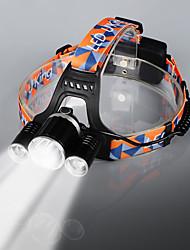 Недорогие -U'King Налобные фонари Фары для велосипеда Светодиодная лампа LED 3 излучатели 9000LM  /Practical lumens:3600LM 4.0 Режим освещения с батарейками и зарядным устройством Диммируемая Высокомощный
