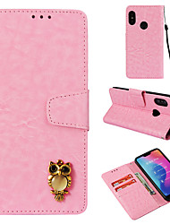 Недорогие -Кейс для Назначение Xiaomi Xiaomi A2 lite Кошелек / Бумажник для карт / Флип Чехол Полосы / волосы Твердый Кожа PU для Xiaomi A2 lite