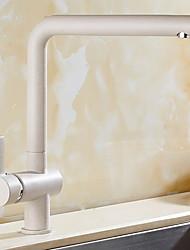 halpa -Kitchen Faucet - Yksi kahva yksi reikä Galvanoitu Standard nokka Tavallinen Kitchen Taps
