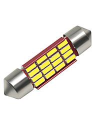 Недорогие -SO.K 4шт 36mm Автомобиль Лампы 3 W SMD 4014 250 lm 16 Светодиодная лампа Внутреннее освещение Назначение Универсальный Все года