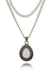 Недорогие -женское многослойное ожерелье из сплава