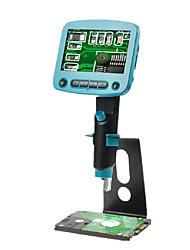 Недорогие -Dm01 4,3-дюймовый ЖК-экран HD 5.0mp 800x портативный USB цифровой ЖК-микроскоп регулируемый высокая яркость 8 светодиодов VGA камеры видео микроскопы паяльная лупа металлическая подставка