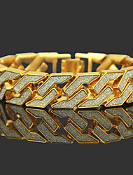 cheap -Men's Two tone Chain Bracelet Gold Plated Precious Luxury Rock Hip-Hop Bracelet Jewelry Gold / Silver For Club Bar
