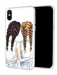 Недорогие -Кейс для Назначение Apple iPhone XR / iPhone XS Max С узором Кейс на заднюю панель Соблазнительная девушка / Мультипликация Мягкий ТПУ для iPhone XS / iPhone XR / iPhone XS Max