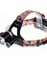 Недорогие -U'King ZQ-X820 Налобные фонари Фары для велосипеда Светодиодная лампа LED 3 излучатели 2000 lm 4.0 Режим освещения Будильник Перезаряжаемый Компактный размер