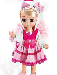 baratos -Boneca de moda Bebês Meninas 16 polegada Silicone - Smart realista Crianças / Adolescente de Criança Unisexo Brinquedos Dom