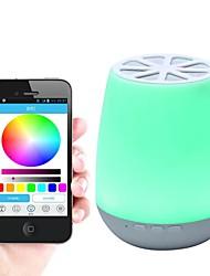 Недорогие -мобильное приложение управляет интеллектуальным Bluetooth-динамик лампа семь цветов обесцвеченный прикроватная лампа аудио светодиодный ночной фонарь