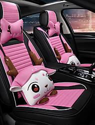 Недорогие -Чехлы на автокресла Подушки для подголовника и талии Розовый Синтетическое волокно Мультяшная тематика Назначение Универсальный Все года Все модели