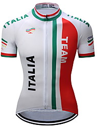 10da81d0d TELEYI Men s Short Sleeve Cycling Jersey - Red and White Bike Jersey Quick  Dry Sports Polyester Mountain Bike MTB Road Bike Cycling Clothing Apparel  ...