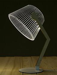 Недорогие -изгиб настольная лампа современный дизайн новинка лампа 3d деревянная настольная лампа светодиодная лампа для чтения со световой иллюзией домашнего декора