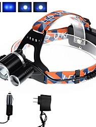 Недорогие -U'King Налобные фонари Фары для велосипеда Светодиодная лампа LED излучатели 3000 lm 4.0 Режим освещения с зарядными устройствами Компактный размер Простота транспортировки