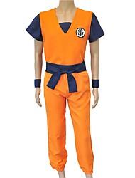 Недорогие -Вдохновлен Жемчуг дракона Son Goku Аниме Косплэй костюмы Японский Косплей Костюмы Буквы Неприменимо / Кофты / Брюки Назначение Универсальные