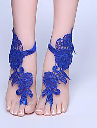 ราคาถูก -ลูกไม้ Sweet Lolita / สายคล้องข้อเท้า Wedding Garter กับ ลูกไม้ แหวนนิ้วเท้า งานแต่งงาน / ปาร์ตี้