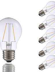 abordables -GMY® 6pcs 2 W 200 lm E26 / E27 Ampoules à Filament LED A17 2 Perles LED COB Décorative Blanc Chaud 120 V