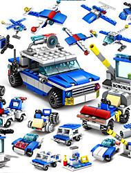 Недорогие -Конструкторы Конструкторы Игрушки Обучающая игрушка 16 pcs Полиция совместимый Legoing Ручная работа Взаимодействие родителей и детей Все Мальчики Девочки Игрушки Подарок