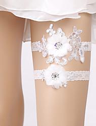 levne -Krajka Elegantní / Pro nevěstu Svatební ošacení S Květiny / Flitry Podvazky Svatební / Párty