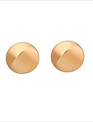 ราคาถูก -สำหรับผู้หญิง ต่างหูแบบห่วง - ทองชุบ S925 เงินสเตอร์ลิง เครื่องประดับ ทอง สำหรับ งานแต่งงาน ทุกวัน 1 คู่