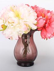 abordables -Fleurs artificielles 1 Une succursale Classique Elégant Moderne contemporain Pivoines Fleur de Table