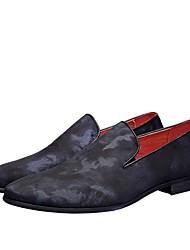 baratos -Homens Sapatos Confortáveis Jeans Primavera Mocassins e Slip-Ons Vermelho / Azul