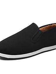 levne -Pánské Komfortní boty Bavlna Zima Nokasíny Černá