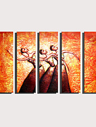 Недорогие -С картинкой Роликовые холсты Отпечатки на холсте - Абстракция Люди Modern