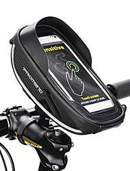 Недорогие -1 L Сотовый телефон сумка Бардачок на раму Сумка на бока багажника велосипеда Водонепроницаемая молния На открытом воздухе Телефон / Iphone Велосумка/бардачок Кожа PU Велосумка/бардачок Велосумка