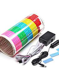 Недорогие -90 х 25 см звуковой ритм активированный стикер автомобиля светодиодные ноты свет красочные разноцветные вспышки