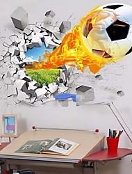 Недорогие -Декоративные наклейки на стены - 3D наклейки Футбол / 3D В помещении