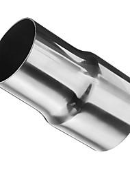 voordelige -1 Stuk 60/51 mm Uitlaatonderdelen voor auto's ongebogen Roestvrij staal Uitlaatdempers Voor Universeel Alle Modellen Alle jaren