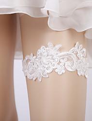 ราคาถูก -ลูกไม้ การแต่งงาน Wedding Garter กับ เข็มกลัด สายรัด งานแต่งงาน / ปาร์ตี้