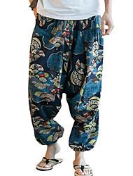 זול -בגדי ריקוד גברים סגנון רחוב צ'ינו מכנסיים גיאומטרי
