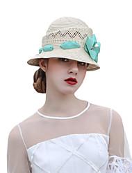 Недорогие -Чудесная миссис Мейзел Колпак шляпа шляпа Дамы Ретро Жен. Бежевый Цветы Конструкция САР Лён / Хлопок костюмы
