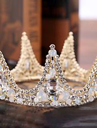 hesapli -alaşım Tiaras ile Yapay İnci / Kristal Detaylar 1 Parça Düğün / Özel Anlar Başlık