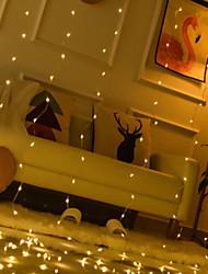abordables -3M Guirlandes Lumineuses / Télécommandes 300 LED Blanc Chaud Décorative Alimenté par Port USB 1 set