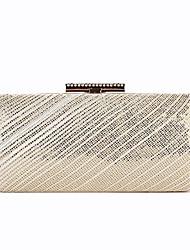 preiswerte -Damen Taschen Aleación Abendtasche Knöpfe / Kristall Verzierung Gitter Gold / Silber