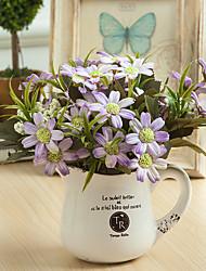 Недорогие -Искусственные Цветы 1 Филиал Классический Для вечеринки Свадьба Ромашки Вечные цветы Букеты на стол