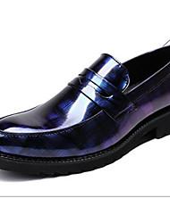 baratos -Homens Sapatos Confortáveis Microfibra Primavera Mocassins e Slip-Ons Preto / Vermelho / Azul