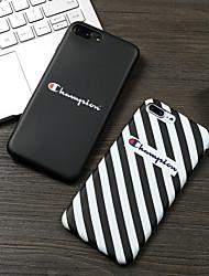Недорогие -Кейс для Назначение Apple iPhone XS / iPhone XR / iPhone XS Max С узором Кейс на заднюю панель Полосы / волосы / Слова / выражения Мягкий ТПУ
