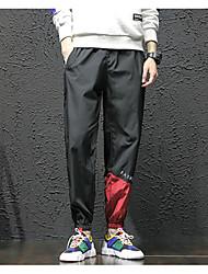 זול -בגדי ריקוד גברים בסיסי צ'ינו מכנסיים קולור בלוק